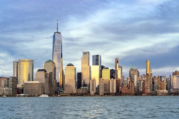 Lower manhattan à new york Photo Premium