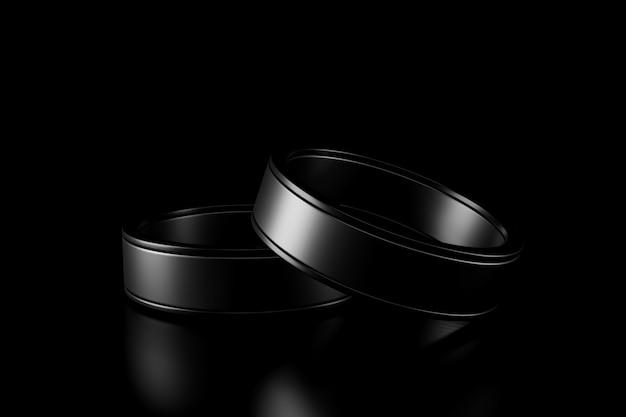 La lumière et l'ombre du couple retentissent dans l'obscurité Photo Premium