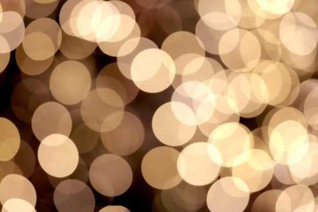 Lumières De Bokeh Abstraites Floues Or Brillant Photo Premium
