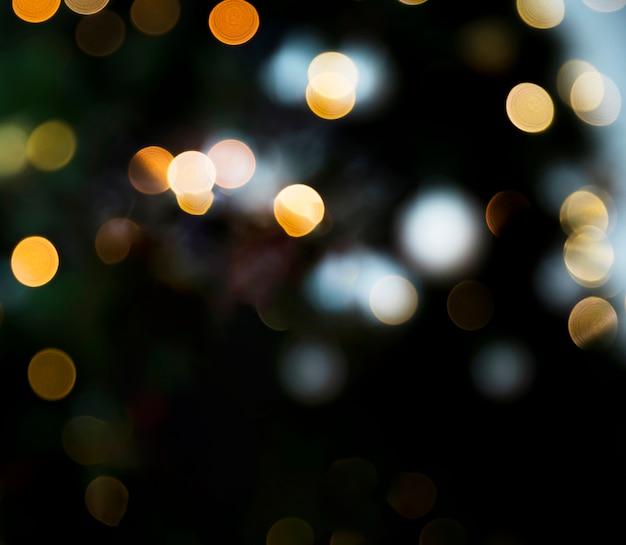 Lumières de bokeh jaunes Photo gratuit