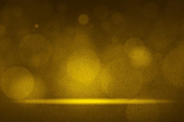 Lumières de bokeh d'or fond de produit Photo gratuit