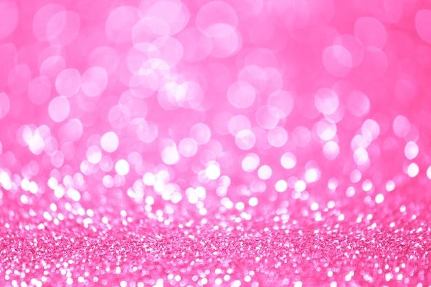 Lumières de bokeh roses et blanches sans mise au point. abstrait Photo Premium