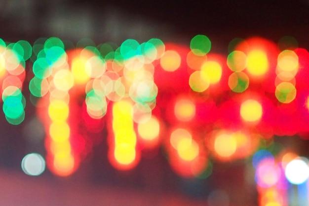 Lumières brouillées de fond bokeh colorfull Photo Premium