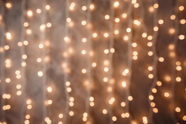 Lumières De Noël Floues Photo Premium