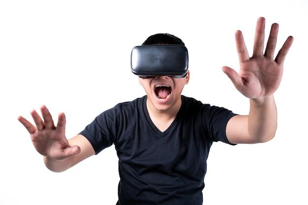 Lunettes de réalité virtuelle vr goggles Photo Premium