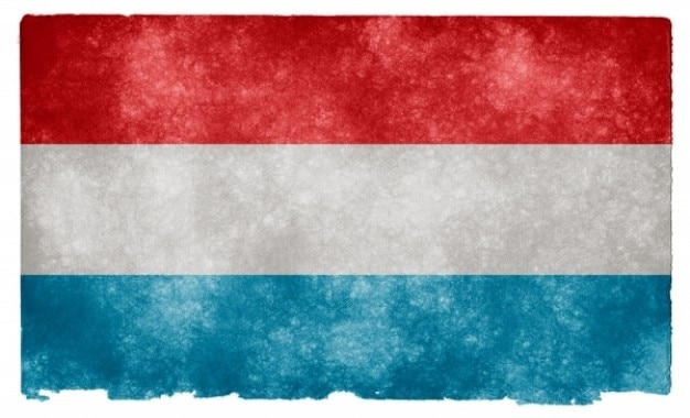 Luxembourg flag grunge Photo gratuit