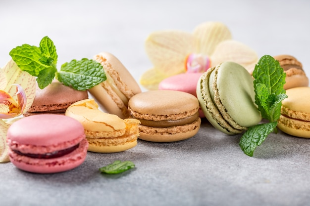 Macarons Assortis Français Photo Premium