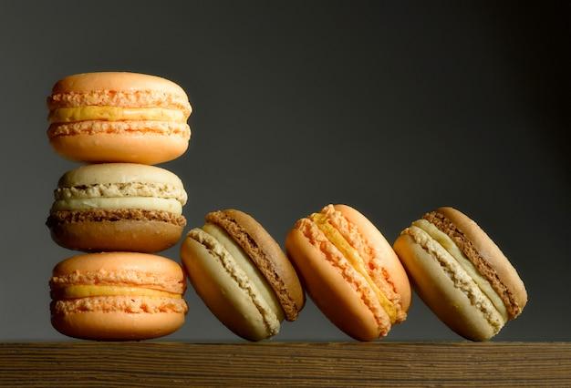 Macarons colorés Photo Premium