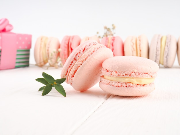 Macarons colorés Photo Premium