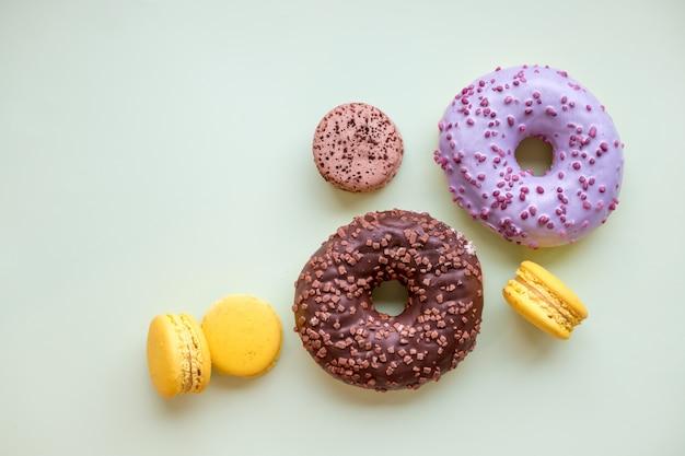 Macarons et pâtisseries Photo Premium
