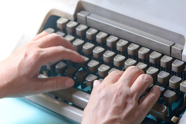 Machine à écrire à l'ancienne Photo Premium