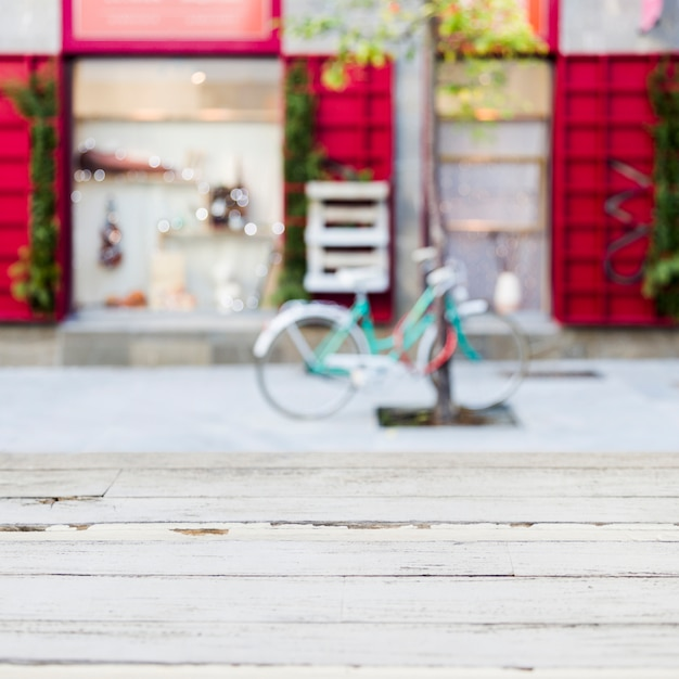 Magasin de vêtements avec un effet flou Photo gratuit