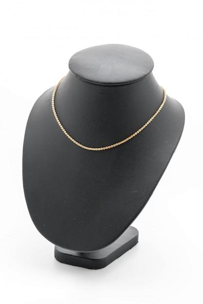 Magnifique collier de luxe sur le cou de bijoux Photo Premium