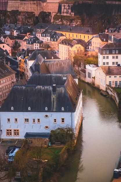 Magnifique Vue Sur La Vieille Ville De Luxembourg Photo Premium