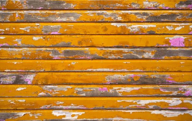 Mahahual mur peint en bois jaune des caraïbes Photo Premium