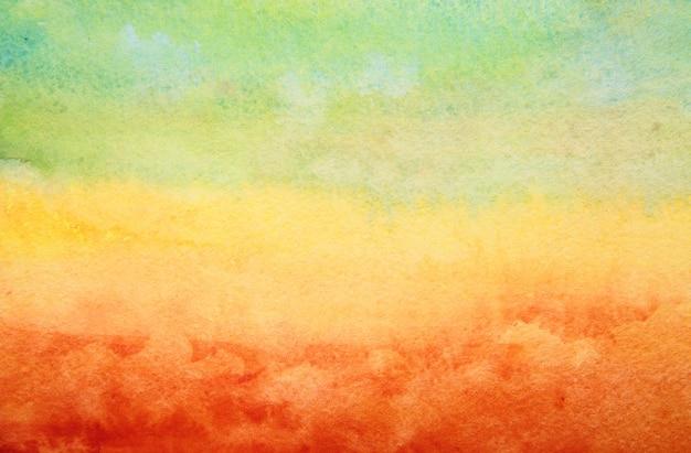 Main abstraite peint un fond aquarelle. Photo Premium
