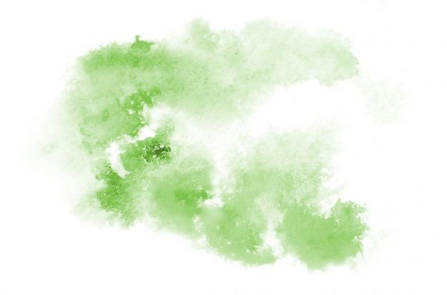 Main dessiné forme aquarelle verte Photo Premium