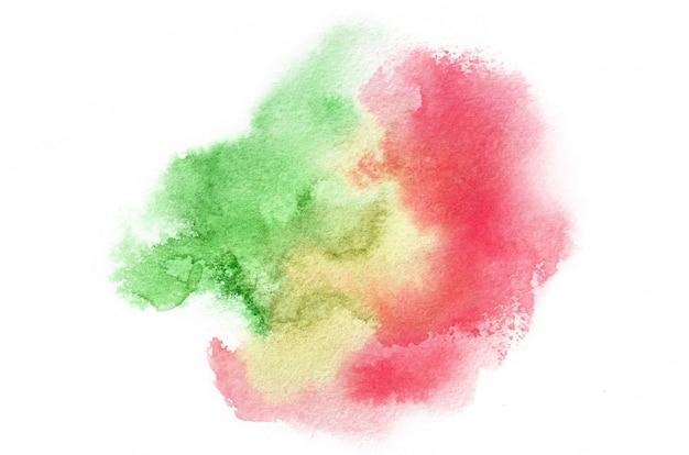 Main dessinée forme aquarelle dans des tons chauds pour votre conception. fond peint créatif, décoration faite à la main Photo Premium
