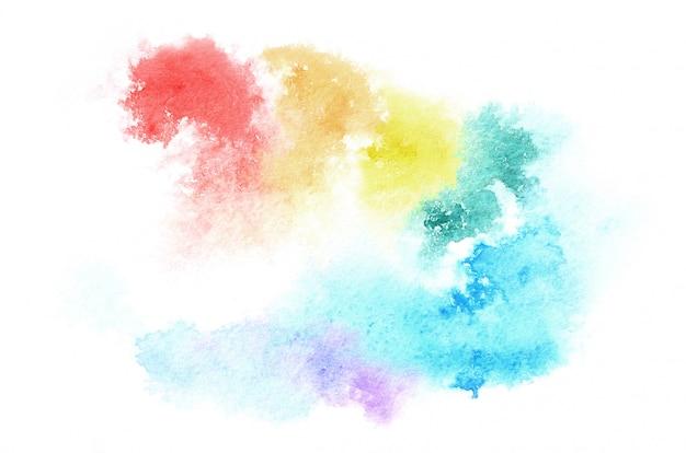Main dessinée forme aquarelle dans des tons mélangés pour votre conception. fond peint créatif, décoration faite à la main Photo Premium