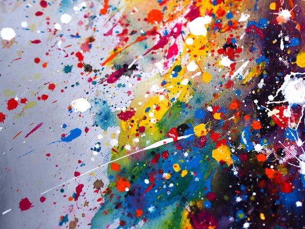 Main dessiner abstrait aquarelle coloré et texturé Photo Premium