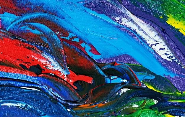 Main dessiner abstrait peinture coloré avec texture. Photo Premium