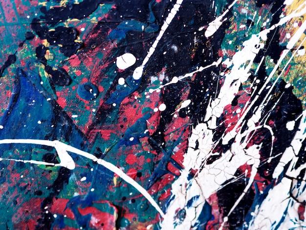 Main dessiner abstrait peinture colorée. Photo Premium