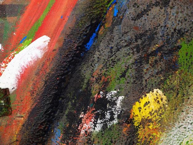 Main dessiner abstrait texture colorée peinture à l'huile. Photo Premium