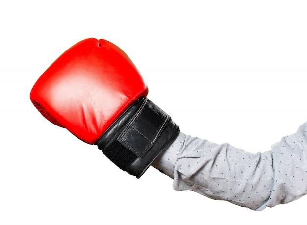 Main d'homme avec des gants de boxe Photo gratuit