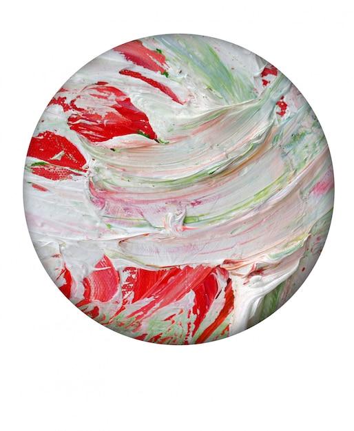 Main De Peinture à L'huile Colorée Dessiner Abstrait. Photo Premium