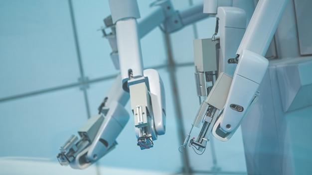 Main robotique industrielle et doigts en rotation Photo Premium