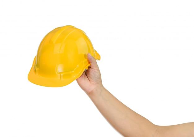 Main tenant un casque Photo Premium