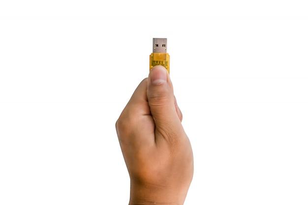 Main tenant un lecteur flash Photo Premium