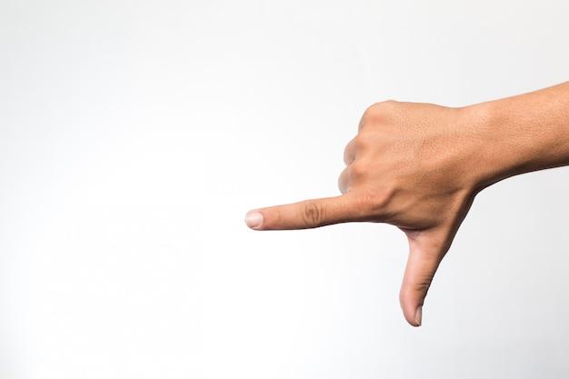 Mains sur le mur blanc Photo Premium