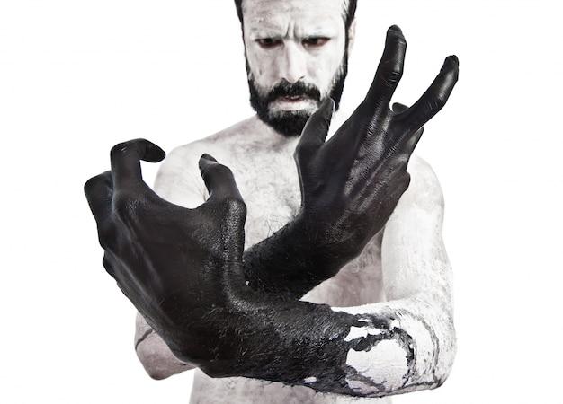 Les mains noires Photo gratuit