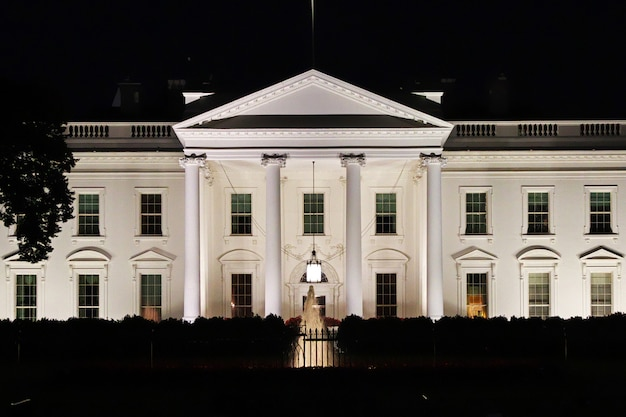 La Maison Blanche à Washington, états-unis Photo Premium