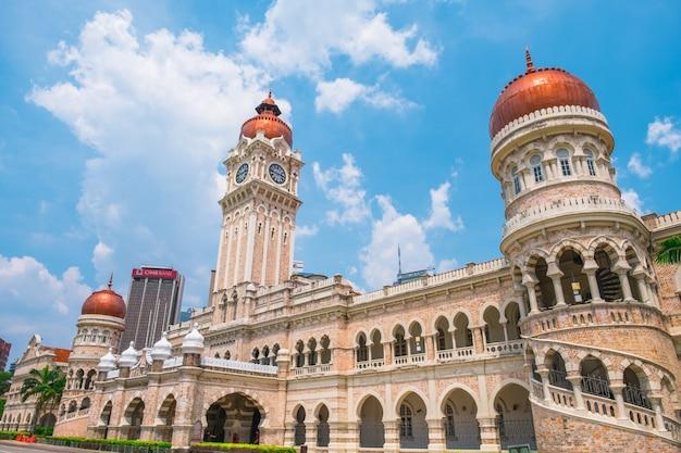 Malaisie, Kuala Lumpur - Vue Sur Le Paysage Urbain Et Dataran Merdeka Le Lieu Historique De La Ville. Photo Premium