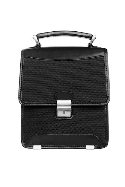 Mallette noire isolée Photo Premium