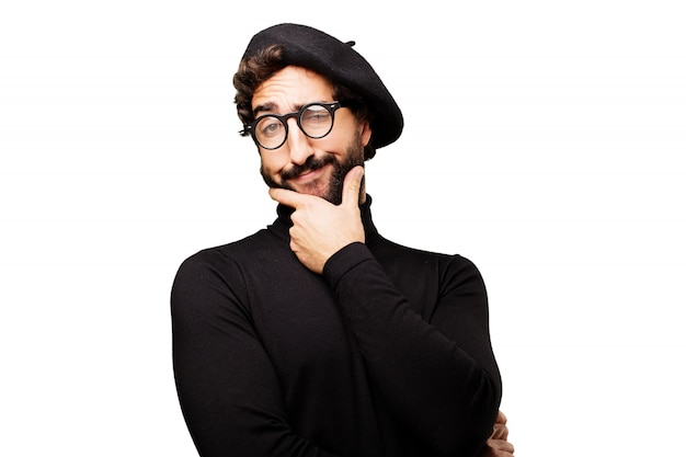 Man raser sa barbe Photo gratuit