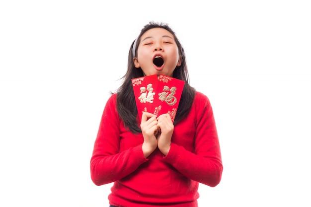 Mandarin richesse culture sourire femme Photo gratuit