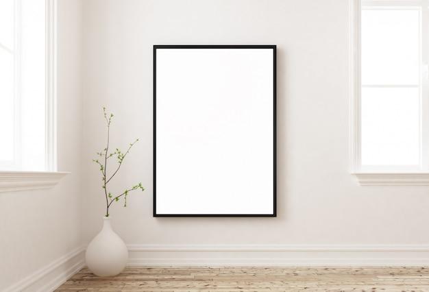 Maquette affiche sur un mur 3d Photo Premium