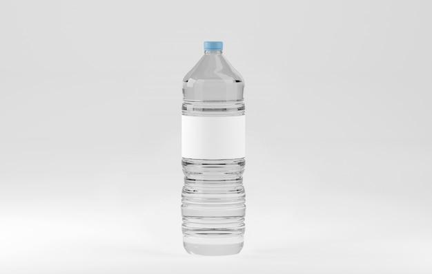 Maquette d'une bouteille d'eau en plastique Photo Premium