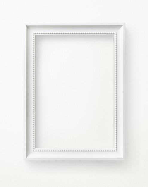 Maquette de cadre photo blanc Photo Premium