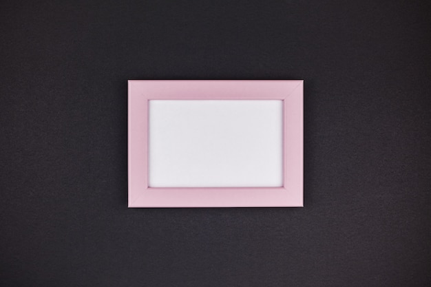 Maquette d'un cadre rose millénaire Photo Premium