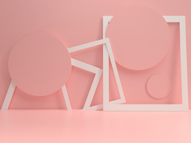 Maquette de modèle podium pastel été style minimal Photo Premium
