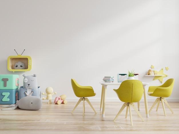 Maquette De Mur Dans La Chambre Des Enfants En Mur Blanc Photo Premium