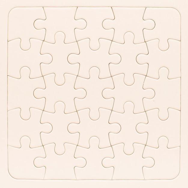 Maquette de puzzle Photo gratuit
