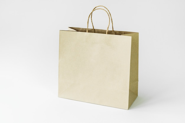 Maquette de sac en papier Photo Premium