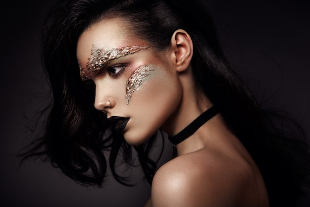 Maquillage futuriste Photo Premium