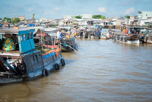 Marché Flottant Mekong Photo gratuit