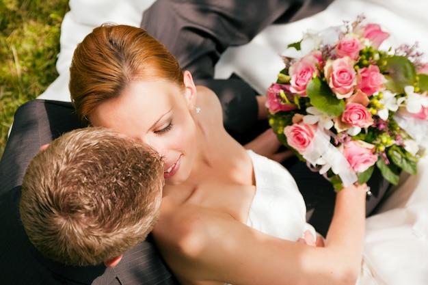 Mariage, tendresse Photo Premium